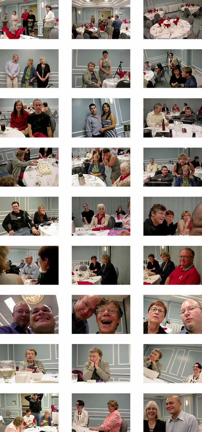 pictures of my grandmother laura's 85th birthday party